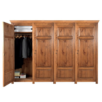 Large Wooden 4 Door Wardrobe