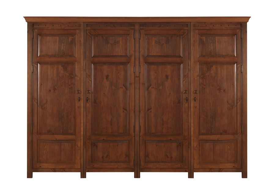 4 Door Wooden Wardrobe