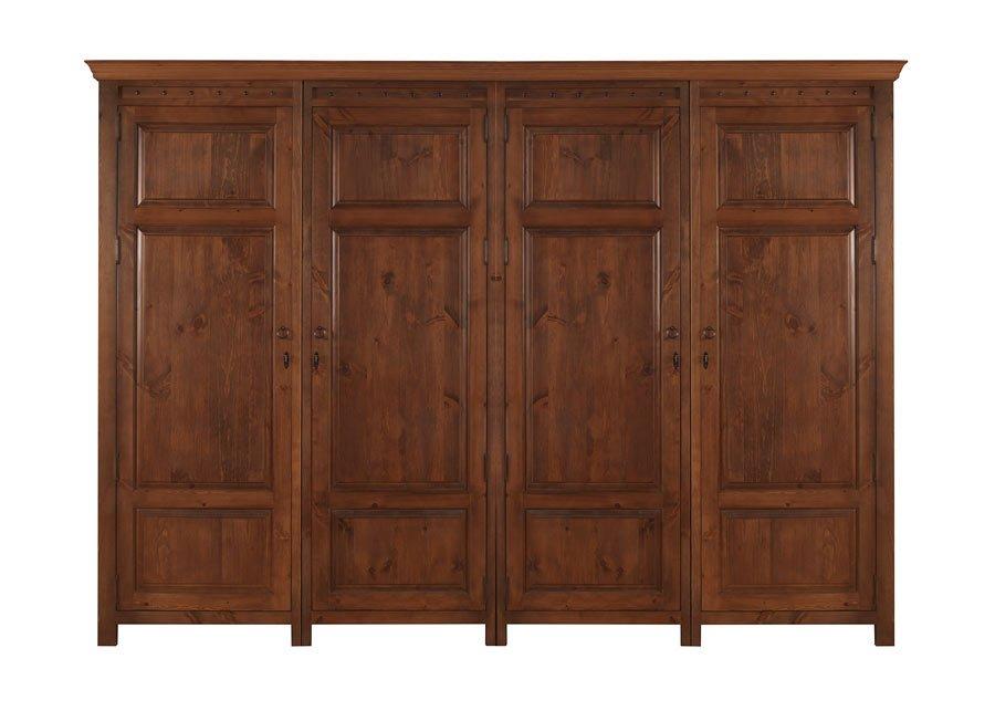 4 Door Solid Wood Wardrobe