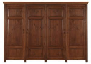 4 Door Wardrobe in Tradional Wood Finish