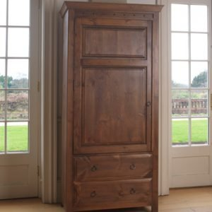 Large Wooden Cupboard with Drawers