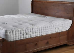 Side View of Tufted Mattress