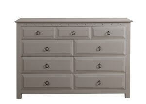 Large Painted 9 Drawer Wooden Chest