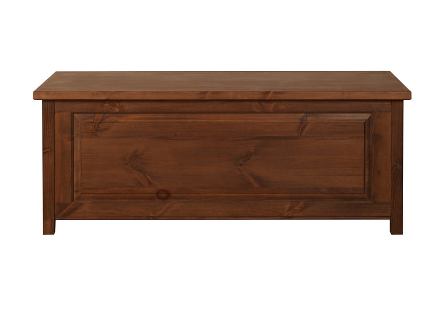 Large Solid Wood Blanket Box