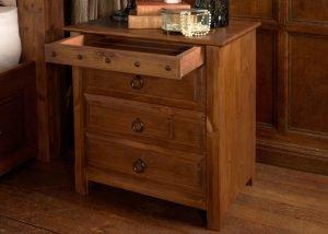 Large Wooden Bedside Cabinet with Secret Drawer