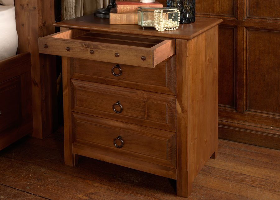 Large Wooden Bedside Cabinet with Secret Drawer