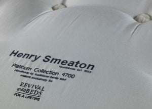Embroidery Detail on Henry Smeaton Mattress