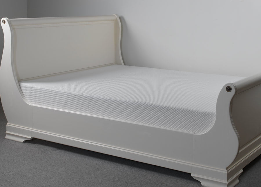 Memory Foam Mattress on Sleigh Bed