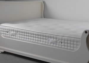 Luxury Memory Mattress on Painted Sleigh Bed