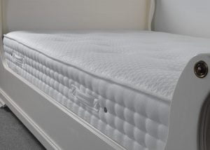 Memory Foam and Pocket Sprung Mattress on Painted Sleigh Bed