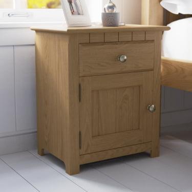 Modern Oak Bedside Cabinet