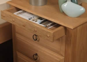 Solid Oak Bedside with Secret Drawer