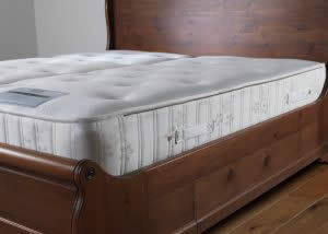 Hand Crafted Zip Together Mattress on Sleigh Bed