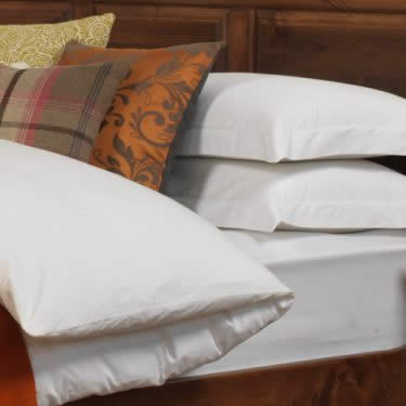 Panelled Headboard and Luxury Bedding