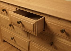 Open Seven Drawer Chest with Brass Handles