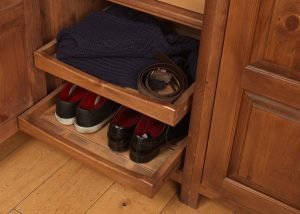 Sliding Shoe Tray in Wardrobe