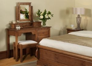 Single Bedroom Dressing Table with Stool and Mirror