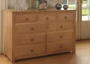 Large Chest of Drawers in Solid European Oak