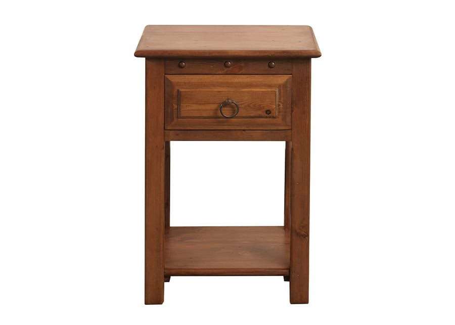 Natural Wood Bedside Table