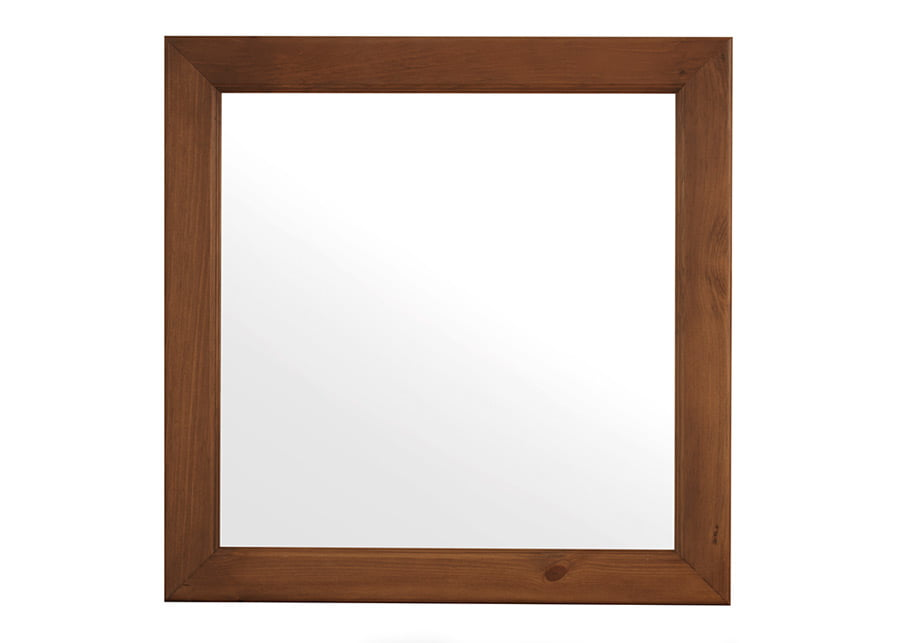 Square Bedroom Wall Mirror in Solid Wood