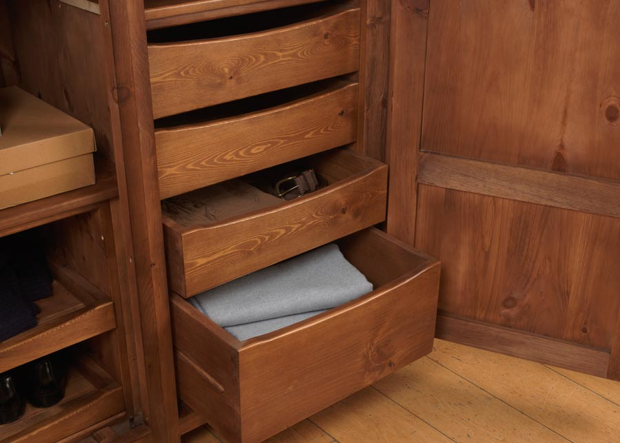 Internal Solid Wood Wardrobe Drawers