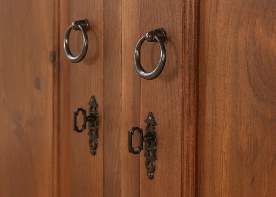 Traditional Wardrobe Lock With Iron Handles
