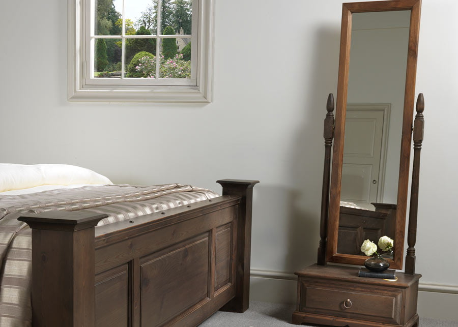 Cheval Mirror with Drawer