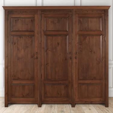 Extra Large 3 Door Wooden Wardrobe