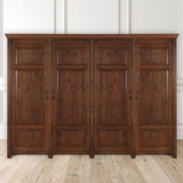 Large Wooden 4 Door Wardrobe