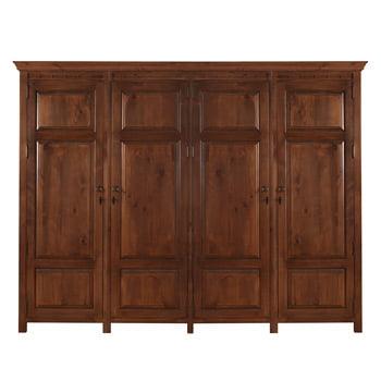 Solid Wooden Four Door Wardrobe