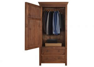 Open Door on Large Single Wardrobe with Drawers
