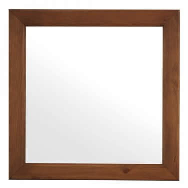 Square Mirror with Solid Wood Frame