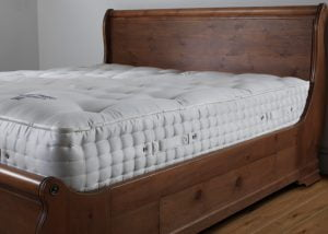 Luxury Super Kingsize Mattress on Sleigh Bed