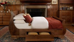 Storage Drawer on Sleigh Bed