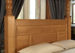 Oak Four Poster Bed Panelled Headboard