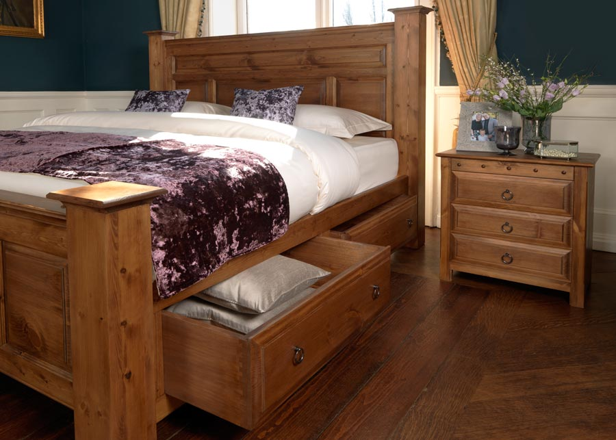 Large Solid Wooden Bed The Ambassador Up To 8ft Wide