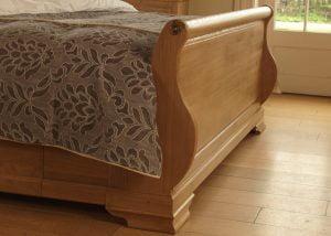Sleigh Bed Footboard in Solid Oak