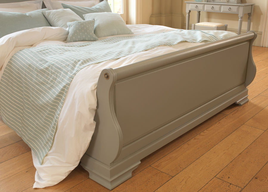 wooden sleigh bed the camargue from revival beds