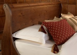 Sleigh Bed Headboard in Solid Wood