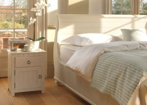 Painted New England Sleigh Bed and Bedroom Furniture