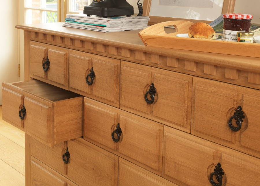 Solid Oak 11 Drawer Chest