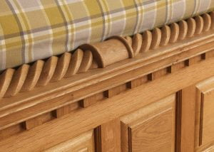 Oak Four Poster Bed Barley Twist Footboard Detail