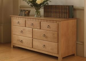 New England Style Chest of Drawers in Solid Oak
