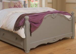 Painted French Style Bed Footboard Detail