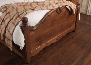 Wooden French Style Bed Footboard Detail