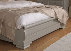 Painted Sleigh Bed Footboard
