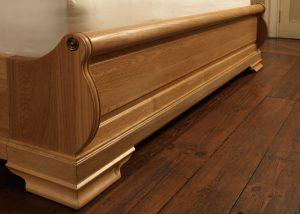 Oak Sleigh Bed Footboard