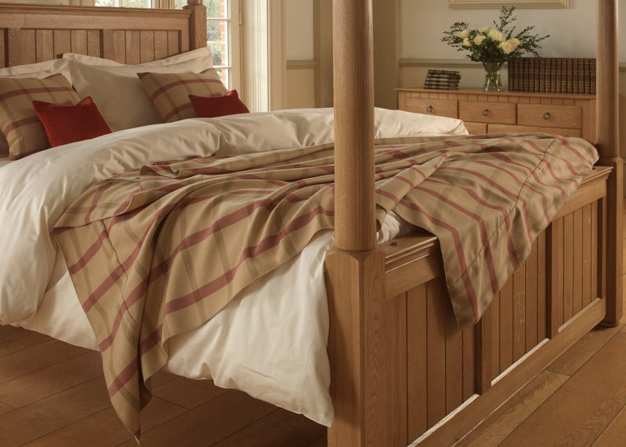 New England Four Poster Bed Footboard Detail