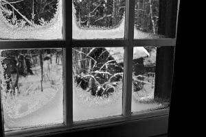 Iced Up Bedroom Window