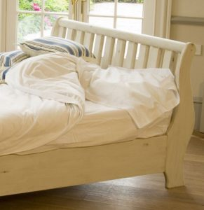 Distressed Painted Sleigh Bed